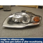 05-08 Audi A4 S4 LH Xenon Head Light with out ballast